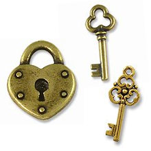 Lock and Key Charms