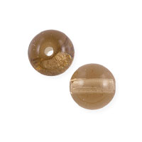 Yellow and Brown Pressed Round Beads
