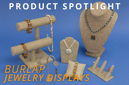 Shop for Burlap Jewelry Displays