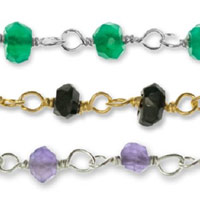 Gemstone Beaded Bulk Chain