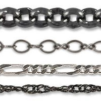 Gunmetal Plated Bulk Chain