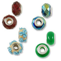 Large Hole Glass Beads with Grommet