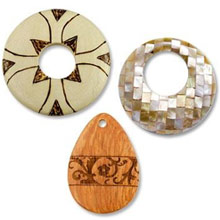 Wood and Shell Pendants