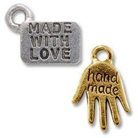Pewter Made with Love Tags
