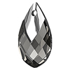 Swarovski Crystal Metallic Cap Pear Shaped Pendant 6565