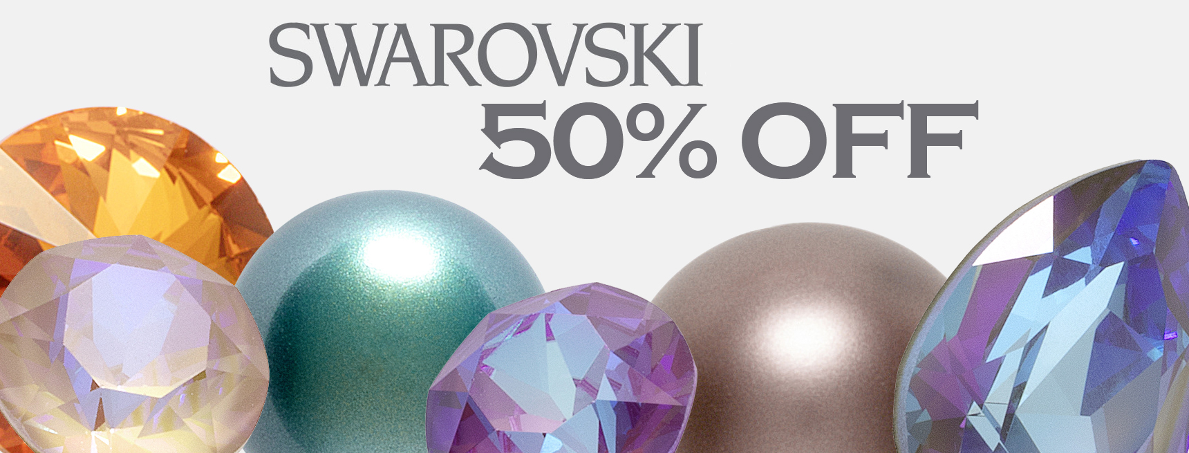50% Off All Swarovski Crystals
