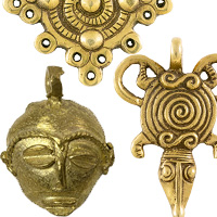 African Metal Pendants