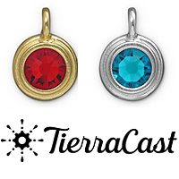 TierraCast Pewter Crystal Charms