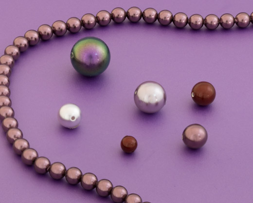 Purple Round Pearls