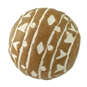 15mm Terra Cotta Clay Round Bead (6-Pcs)