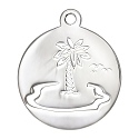 Palm Tree Charm 17mm Sterling Silver (1-Pc)