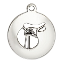 Saddle Charm 17mm Sterling Silver (1-Pc)
