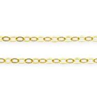Gold Filled 1.3mm Flat Cable Chain (Priced per Foot)