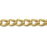 Fox Chain 7x5mm Satin Hamilton Gold Plated (Priced per Foot)