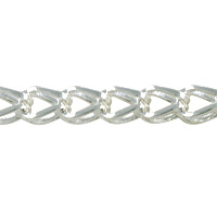 Fox Chain 7x5mm Silver Plated (Priced per Foot)