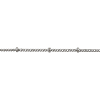 Curb Chain with Ball 1.5x2mm Surgical Stainless Steel (Priced per Foot)