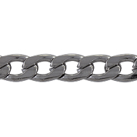 Flattened Curb Chain 6.5x4.5mm Surgical Stainless Steel (Priced per Foot)