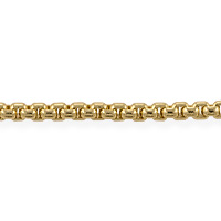 Venetian Box Chain 3mm Gold Plated (Priced per Foot)