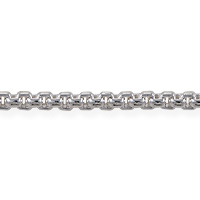 Venetian Box Chain 3mm Silver Plated (Priced per Foot)