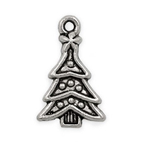 Christmas Tree Pewter Charm 23x14mm (1-Pc)