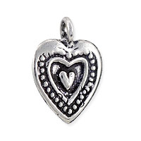 Heart Charm - 14x10mm Sterling Silver (1-Pc)