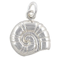 Sterling Silver Nautilus Shell Charm 14x12.5mm (1-Pc)