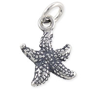 Starfish Charm 13x9mm Sterling Silver (1-Pc)
