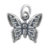 Butterfly Charm 11x14mm Sterling Silver (1-Pc)