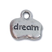 Dream Charm 8x12mm Pewter Antique Silver Plated (1-Pc)