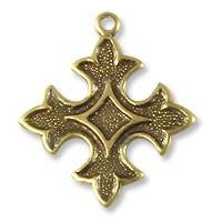 Fleur de Lis Charm 18mm Antique Brass Plated (1-Pc)