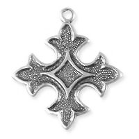 Fleur de Lis Charm 18mm Silver Plated (1-Pc)