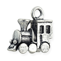 Train Charm 16x15mm Antique Silver Plated (1-Pc)