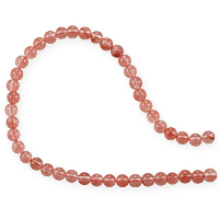 Cherry Quartz Round Beads 4mm (15