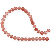 Cherry Quartz Round Beads 6mm (15