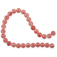 Cherry Quartz Round Beads 8mm (15