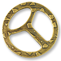 TierraCast TriBuckle Clasp 28mm Pewter Antique Brass Plated (1-Pc)