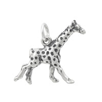Giraffe Charm 17mm Sterling Silver (1-Pc)