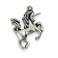 20mm Antique Silver Pewter Unicorn Charm (1-Pc)