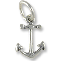 Anchor Charm 13x9mm Sterling Silver (1-Pc)