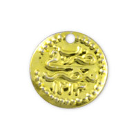 Egyptian Coin Charm 18mm Gold Color (10-Pcs)