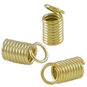 Spring Cord End Cap 5x10mm Gold Plated (10-Pcs)