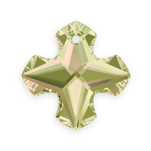 Swarovski crystal greek cross pendant 6867 18mm crystal luminous swarovski greek cross pendant 6867 18mm crystal luminous green mozeypictures Choice Image