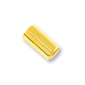 6mm Gold Plated Stretch Cord Crimp Tubes (40-Pcs)