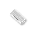 6mm Silver Plated Stretch Cord Crimp Tubes (40-Pcs)