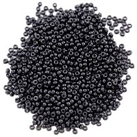 Preciosa Czech Seed Bead 11/0 Opaque Black (10 Grams)