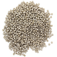 Czech Seed Beads 11/0 Silver (10 Grams)