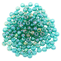 Preciosa Czech Seed Beads 6/0 Emerald AB (10 Grams)