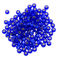 Preciosa Czech Seed Bead 6/0 Silver Lined Sapphire (10 Grams)