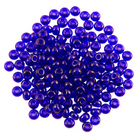 Preciosa Czech Seed Bead 6/0 Transparent Cobalt Blue (10 Grams)