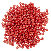 Preciosa Czech Seed Bead 8/0 Opaque Dark Red (10 Grams)